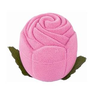 Dárková krabička semiš - růže růžová