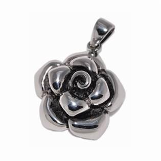 Ocelový přívěšek - růže
