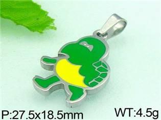 Ocelový přívěšek - želva