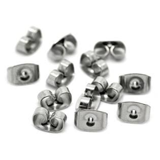 komponenty - náušnicové puzetové uzávěry ocelové