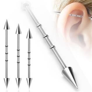 Industrial piercing - špičky