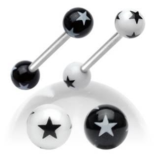 Piercing do jazyku s hvězdami
