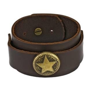 Kožený náramek s hvězdou