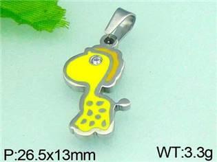 Ocelový přívěšek - žirafka