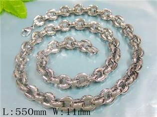 Pánský ocelový řetěz, tl. 11 mm, délka 55 cm