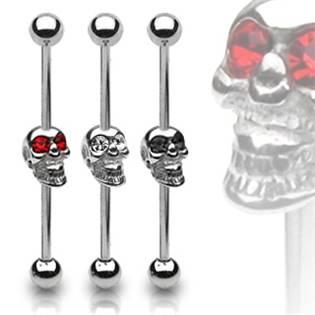 Industrial piercing - lebka