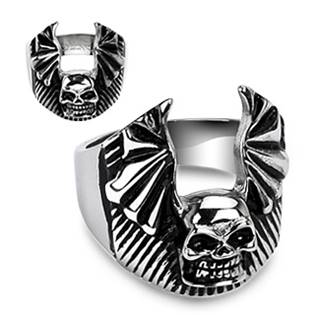 Ocelový prsten - lebka OPR1306