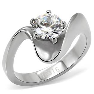 Ocelový prsten se zirkonem OPR1485