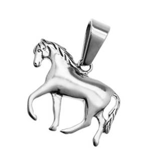 Ocelový přívěšek - kůň - OPP1347