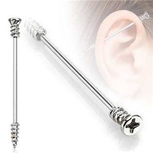 Industrial piercing - šroub, 1,6 x 38 mm