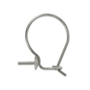 Ocelový náušnicová klapka - 1 kus