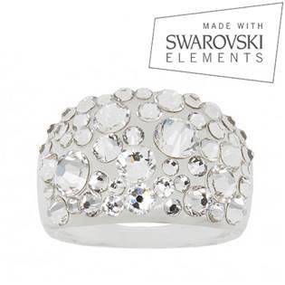 Prsten s krystaly Crystals from Swarovski®, Crystal