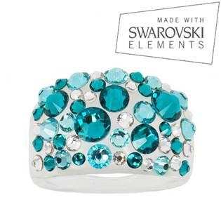 Prsten SWAROVSKI® elements - Blue Zircon - velikost 63 - LV2009-63