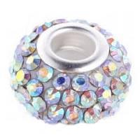 Pavé přívěšek - korálek s AB krystaly