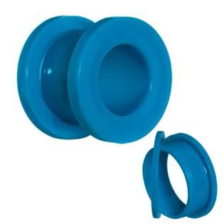 Modrý akrylátový tunel do ucha