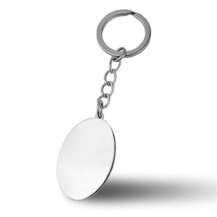 Ocelový přívěšek na klíče - oválná destička