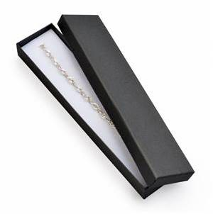Dárková krabička na náramek černá