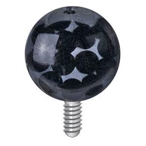 Microdermal - ozdobná část kulička se zirkony, 4 mm