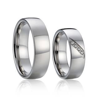 Snubní prsteny chirurgická ocel - pár AN1017 - AN1017