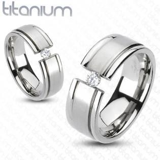 TT1015 Dámský snubní prsten titan - velikost 50 - TT1015-50