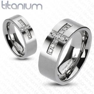 TT1016 Pánský snubní prsten titan - velikost 62 - TT1016-62
