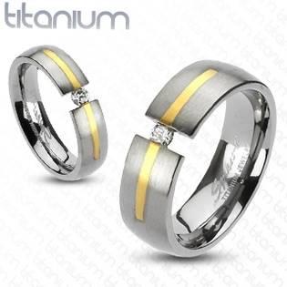 TT1019 Dámský snubní prsten titan - velikost 58 - TT1019-58