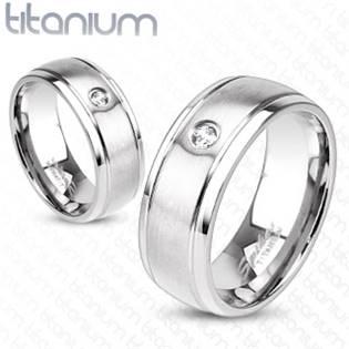 TT1020 Dámský snubní prsten titan - velikost 52 - TT1020-52