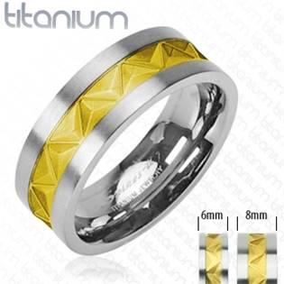 TT1029 Pánský snubní prsten titan - velikost 60 - TT1029-60