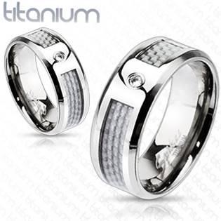 TT1003 Pánský snubní prsten titan - velikost 65 - TT1033-65