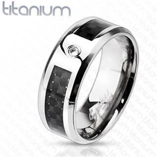 TT1034 Pánský snubní prsten titan - velikost 65 - TT1034-65
