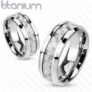 TT1036 Dámský snubní prsten titan - velikost 50 - TT1036-50