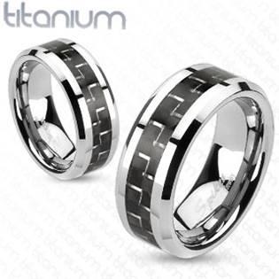 TT1037 Pánský snubní prsten titan - velikost 67 - TT1037-67