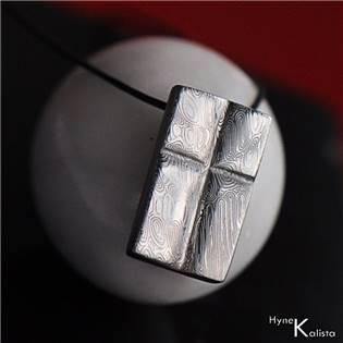 Damasteel přívěsek - Křížek