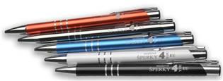 Kuličkové pero s rytinou textu