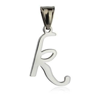 Ocelový přívěšek - písmeno - iniciála K
