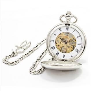 Mechanické kapesní hodinky otevírací - cibule - KH0008