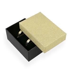 Dárková krabička na snubní prsteny zlatá/černá