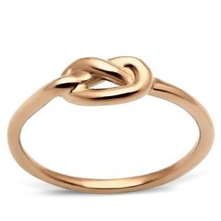 Zlacený ocelový prsten - uzel