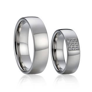 Snubní prsteny chirurgická ocel - pár AN1016 - AN1016