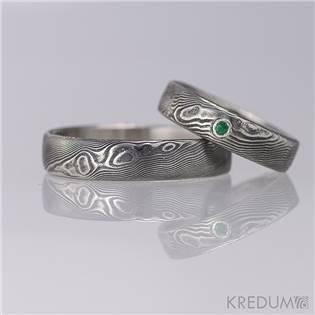 Dámský snubní prsten se smaragdem - velikost 50 - KS1024-SM-50