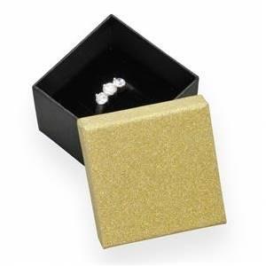 Dárková krabička na prsten zlatá/černá