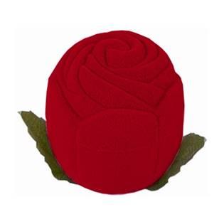 Dárková krabička semiš - růže bordó