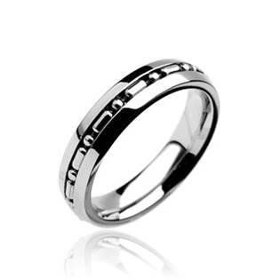 Ocelový prsten, šíře 5 mm