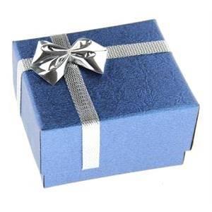Dárková karbička na prsten modrá