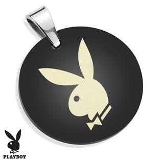 Kulatý ocelový přívěšek Playboy