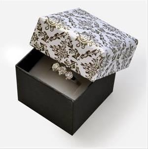 Dárková krabička na prsten - ornamenty