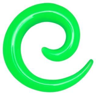 Roztahovák do ucha - spirála zelená