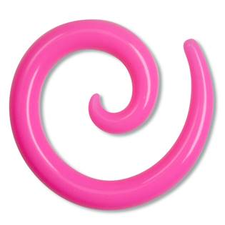 Roztahovák spirála silikon růžová