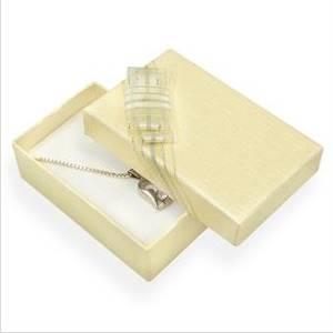 Dárková krabička na snubní prsteny - smetanová