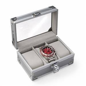 Malá šperkovnice na ukládání hodinek - stříbrná